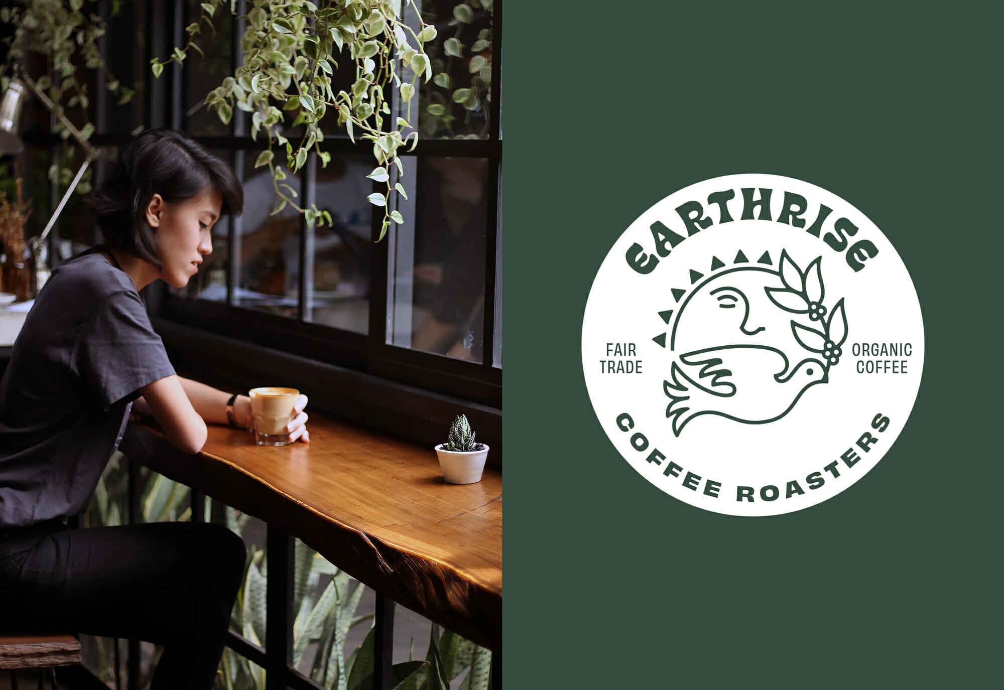 Earthrise Coffee Roasters Branding and Typography Badge