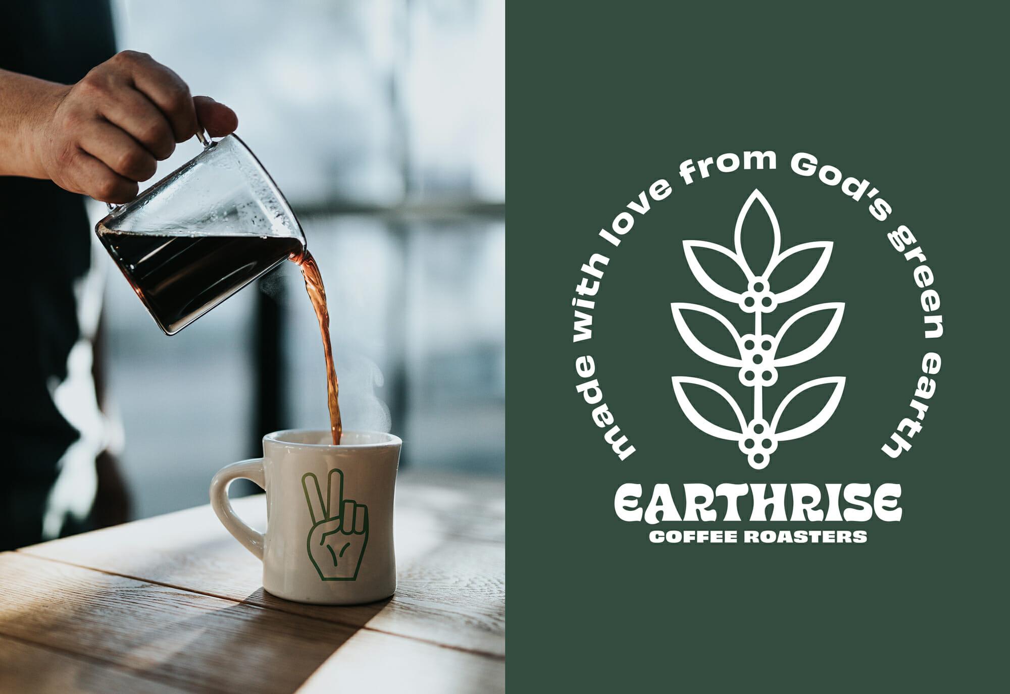 Earthrise Coffee Roasters Typography Badge 2
