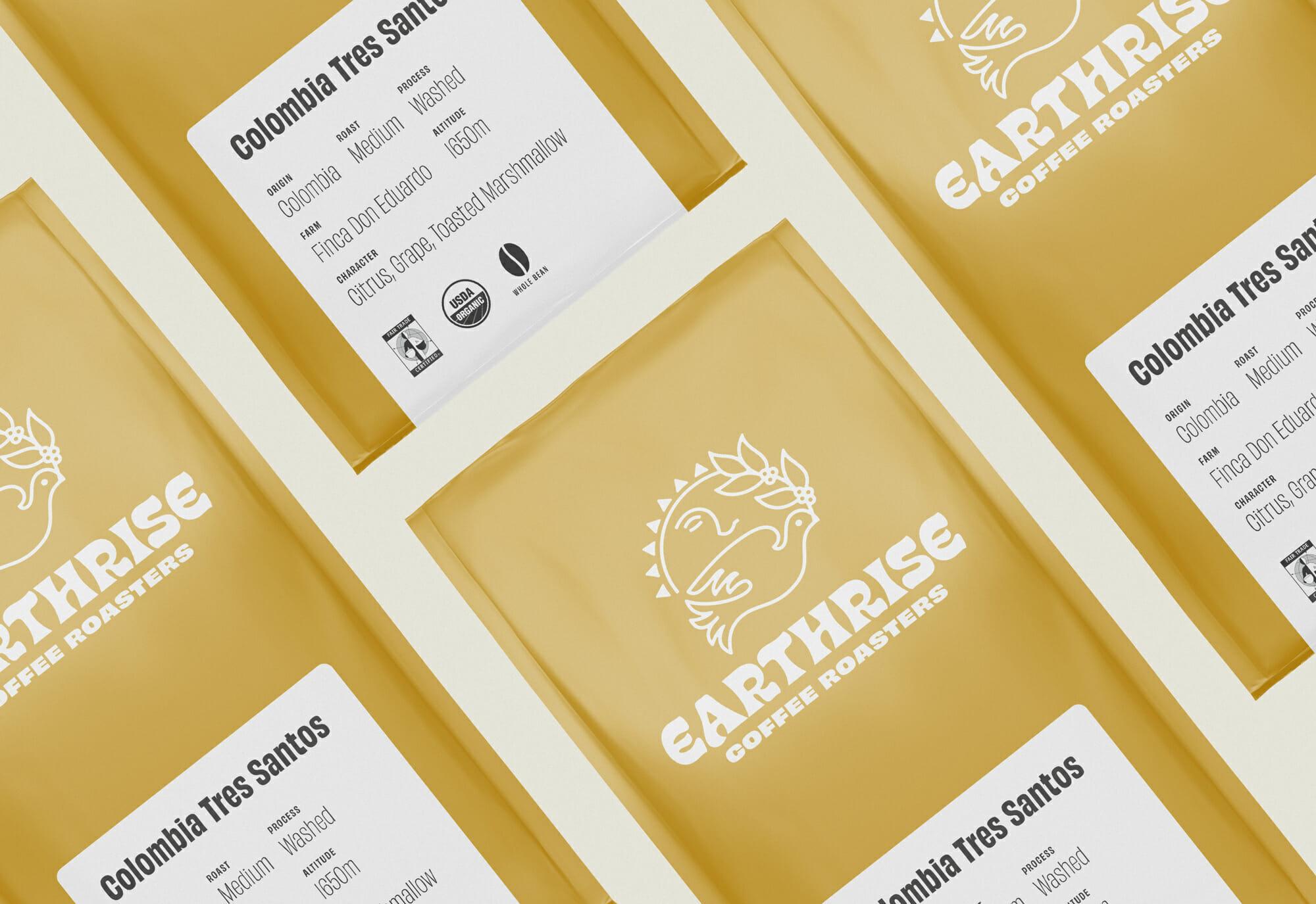 Earthrise Coffee Roasters Packaging Design Grid