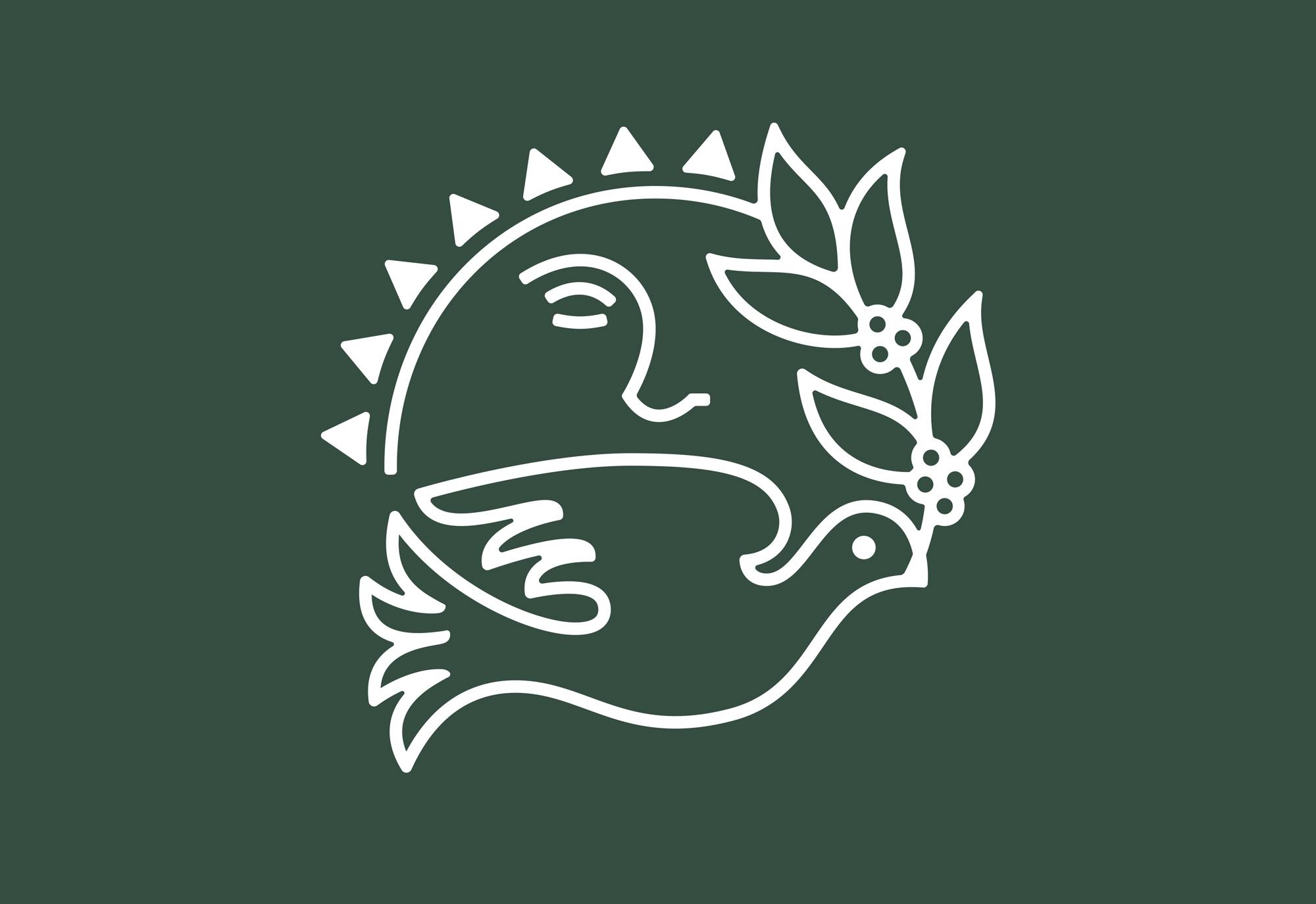 Earthrise Coffee Roasters Logo Design Symbol