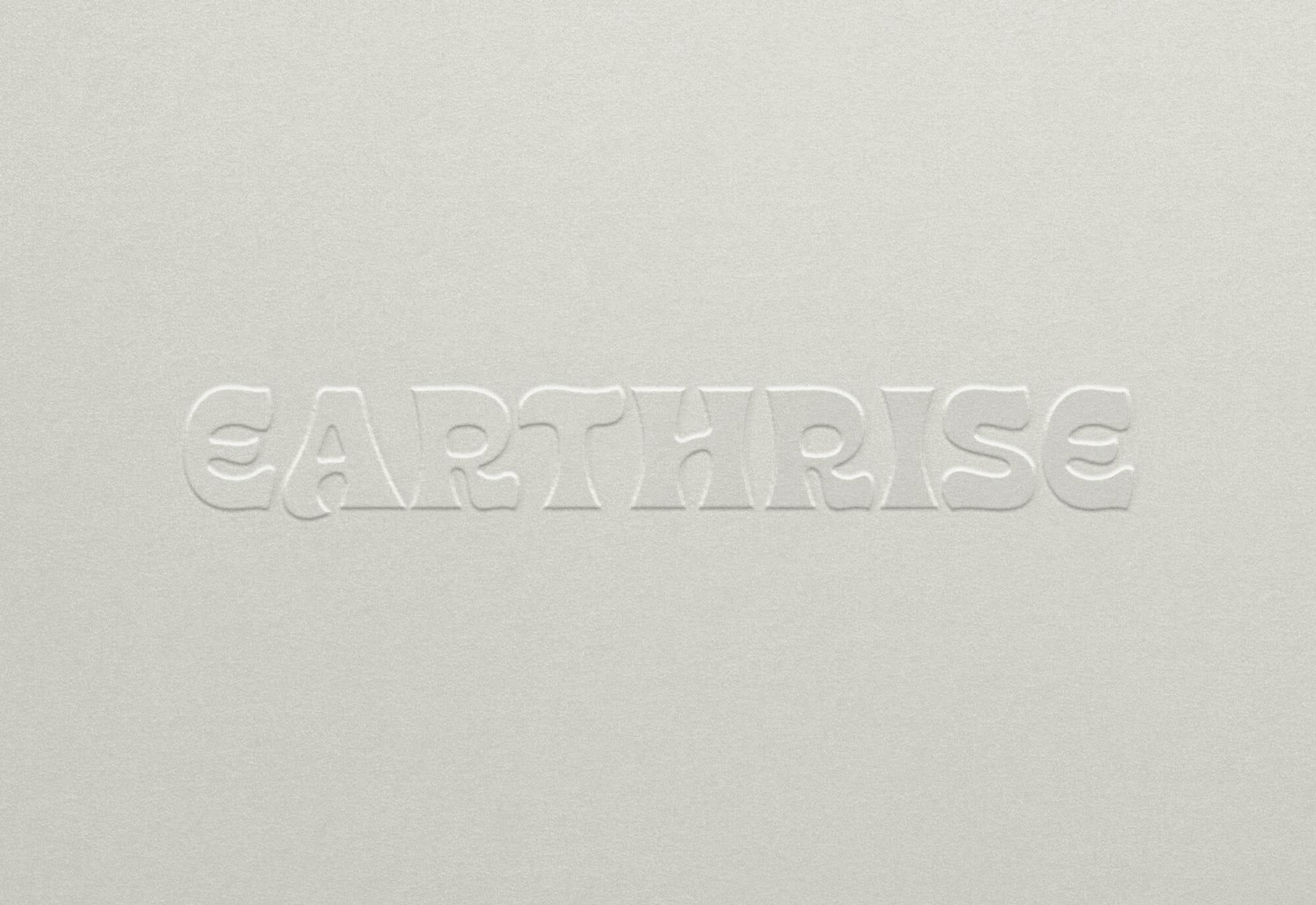 Earthrise Coffee Roasters Logotype Emboss