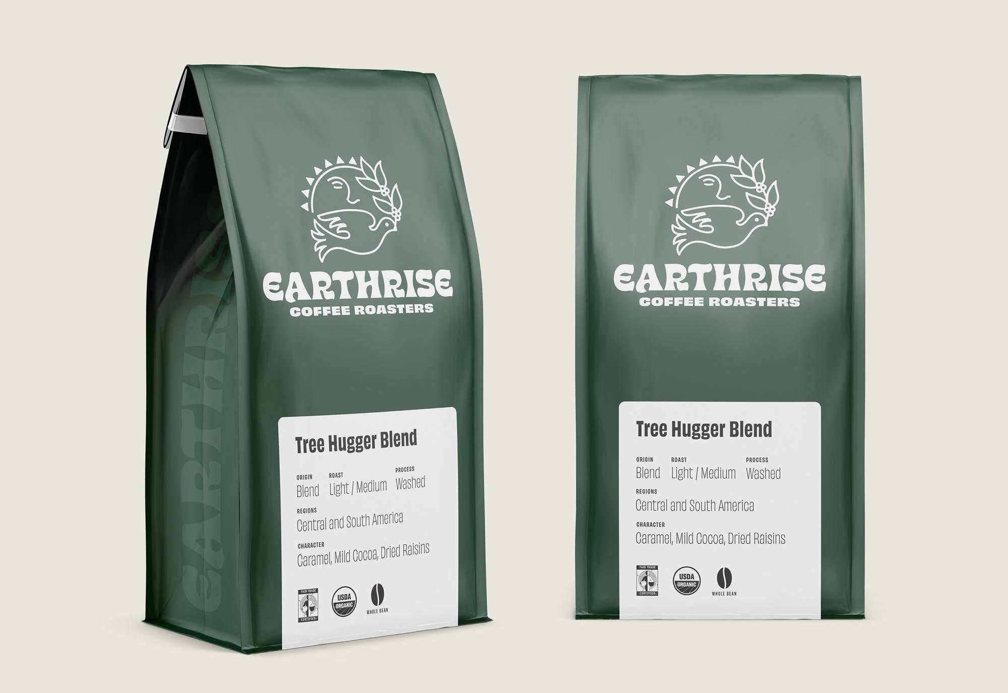 Earthrise Coffee Roasters Packaging Design Hero Image