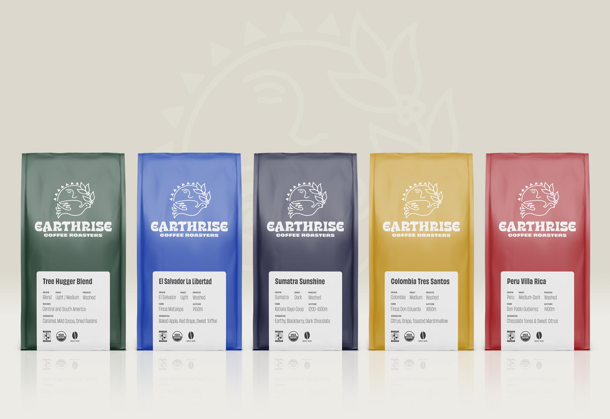 Earthrise Coffee Roasters Packaging Lineup