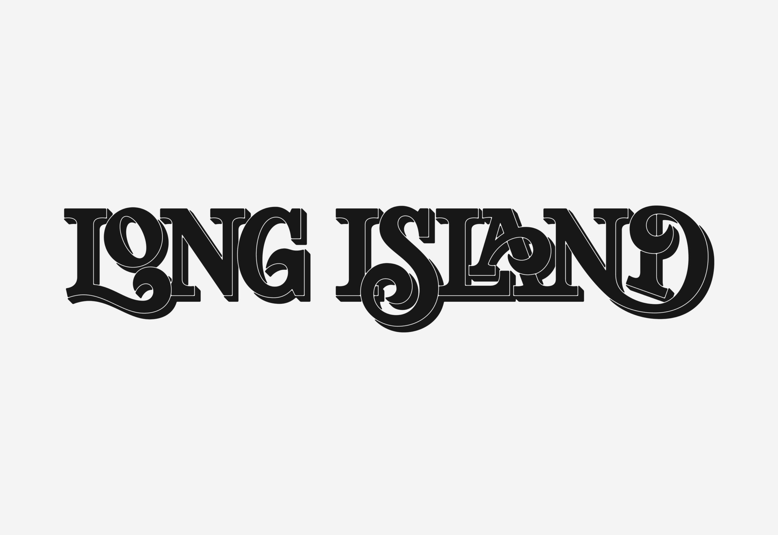 Long Island Lettering Wordmark Logotype