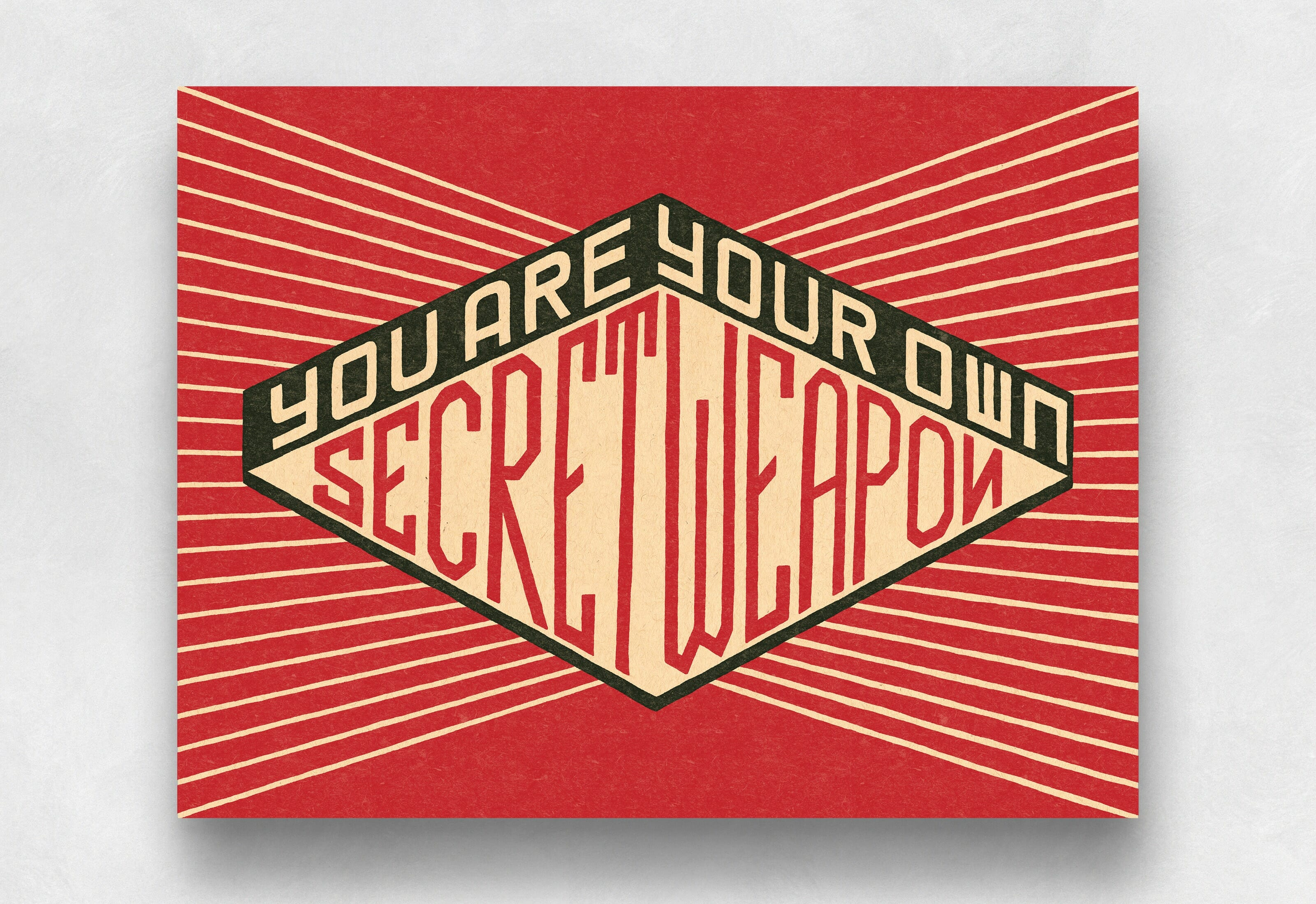 You Are Your Own Secret Weapon Lettering by Mark Lundberg Inspired by MxPx