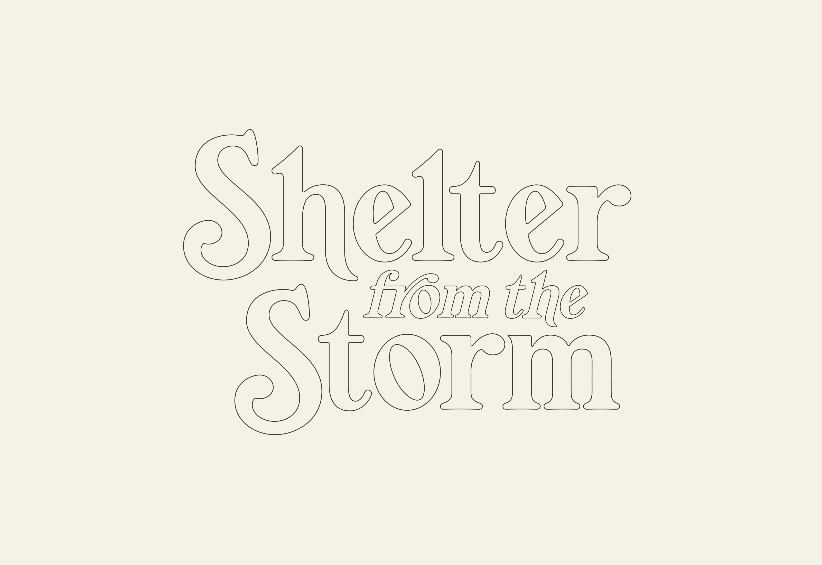 Shelter From The Storm Lettering by Mark Lundberg