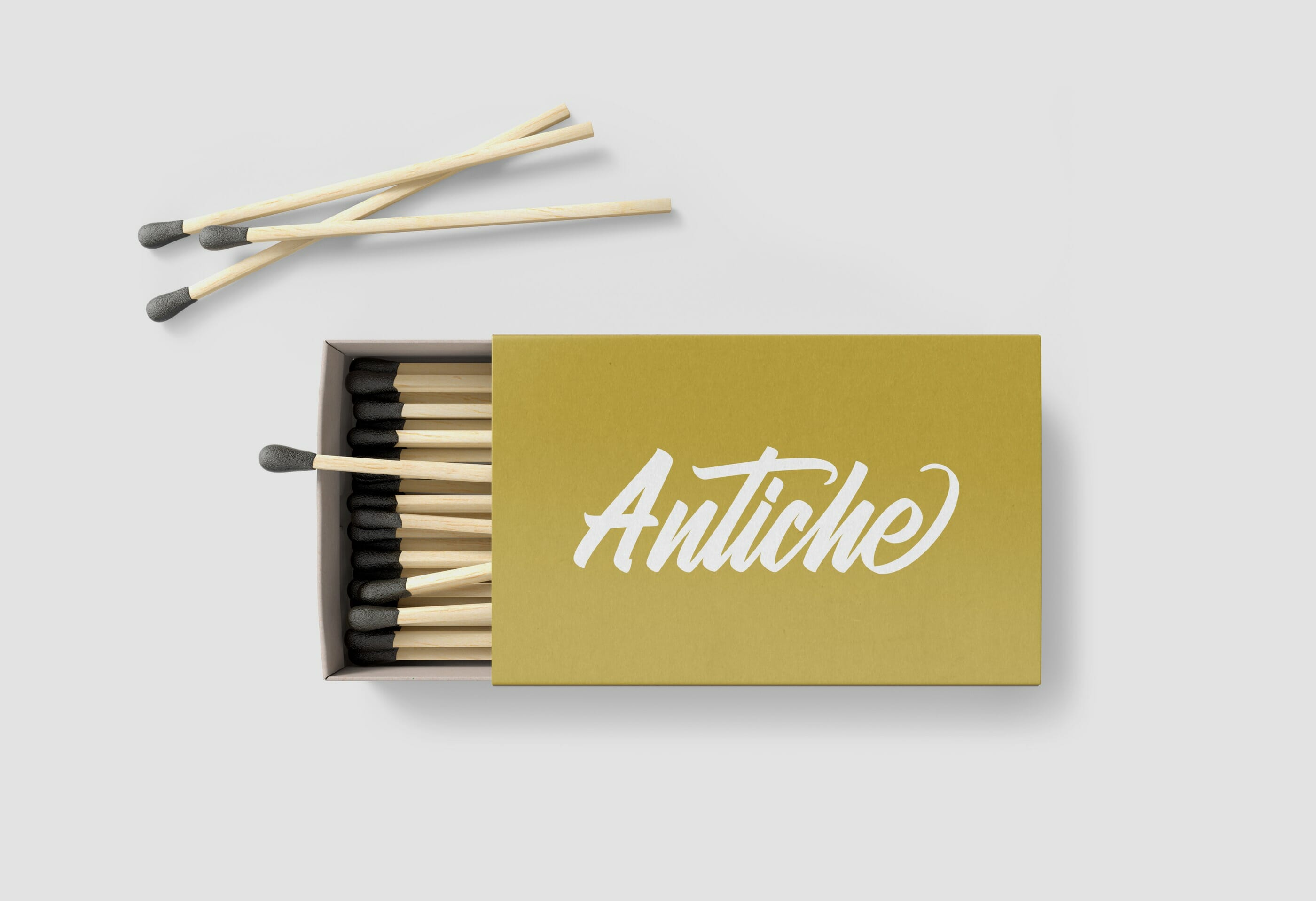 Antiche Restaurant Matchbook Design by Mark Lundberg