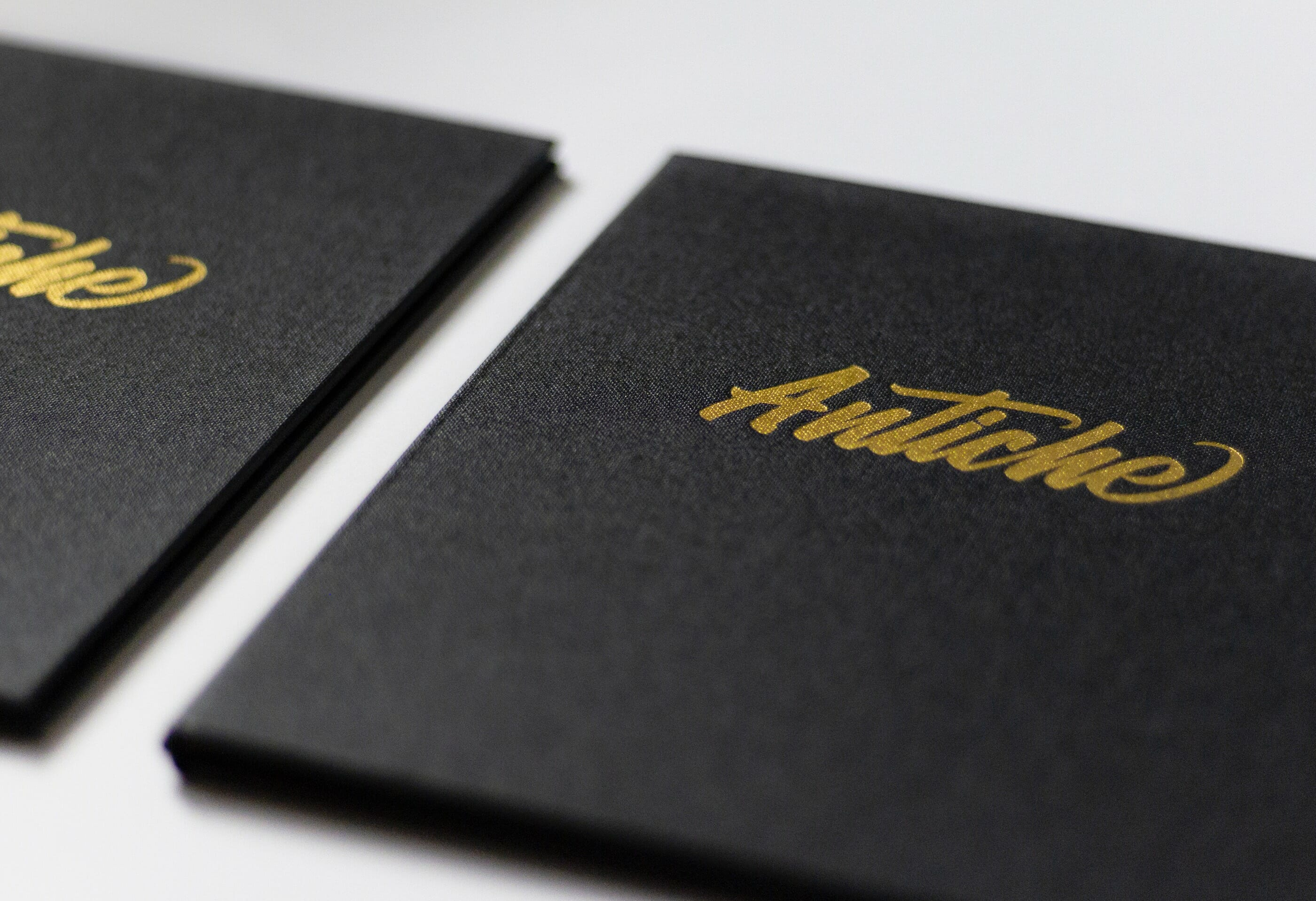Antiche Restaurant Logotype Menu Cover Detail of Gold Foil Stamp | Visual Identity by Mark Lundberg