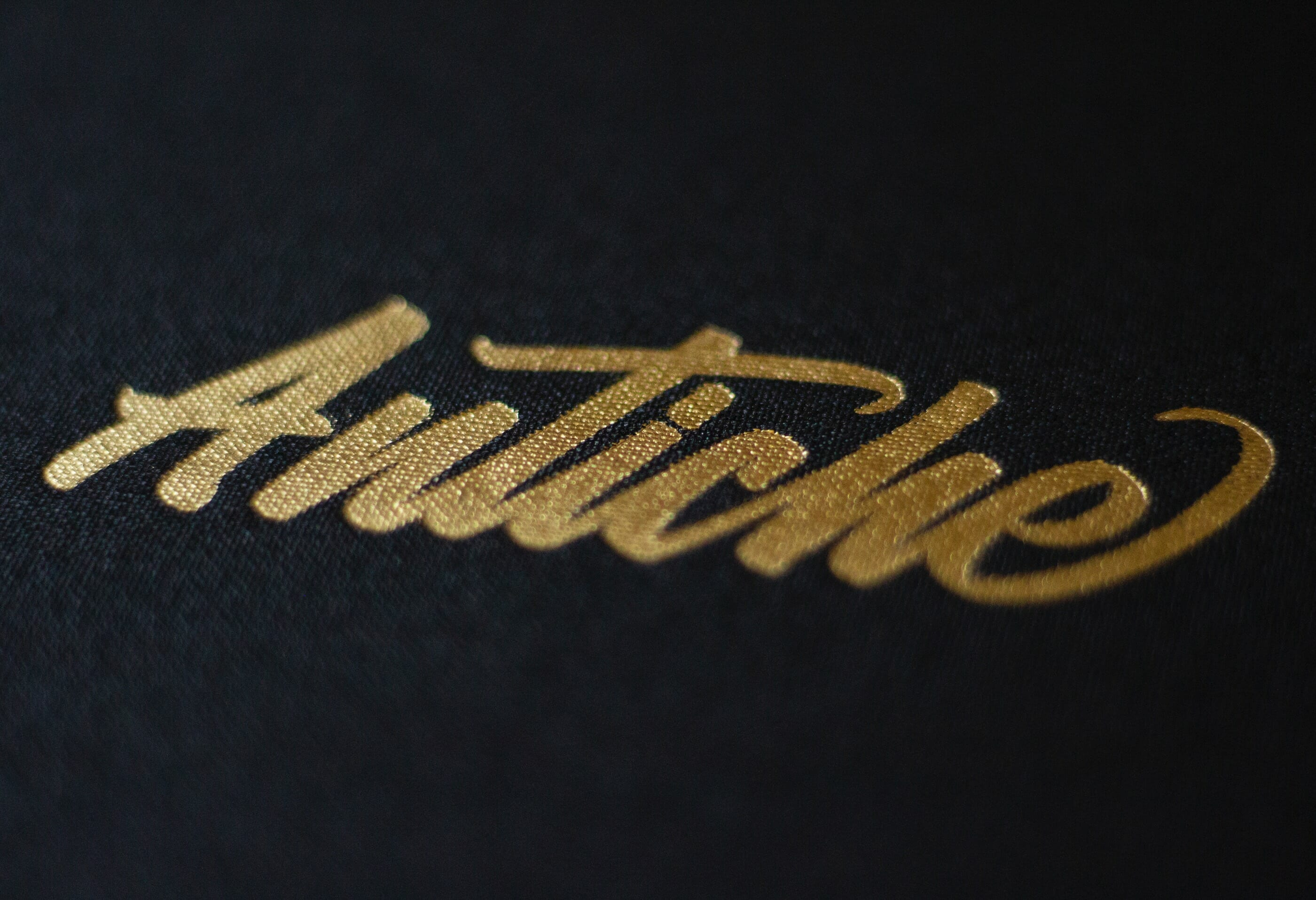 Antiche Restaurant Logotype Gold Foil Stamp | Visual Identity by Mark Lundberg